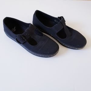 Dr. Martens Woolwich T-Bar Black Canvass Shoes 7